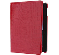 Alligator Pattern 360 Degree Rotatable Full Body Case with Stand for iPad 2/3/4 (Red)