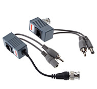 Video/Audio/Power Balun with DC Female/Male & 2RCA 0.1M