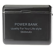 Batería externa 5600mah banco de energía de respaldo 5v para el iphone 6/6 más / 5 / 5s / 5c