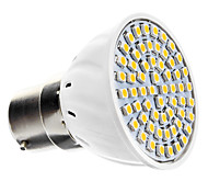 B22 4.5 W 60 SMD 3528 240 LM Warm White Spot Lights AC 220-240 V