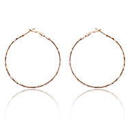 Europestyle Brief 5Cm Leopard Print Enamel Hoop Earrings