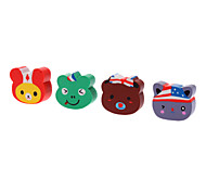 4pcs Animal Shaped Colorful Eraser