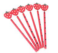 Wooden Strawberry Ornament Pencils(6PCS)