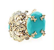 banhado a ouro acrílico liga flor oca-out padrão pulseira
