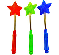 Flexible 3-Mode Flashing Five-pointed Star Wand A(Random Color)