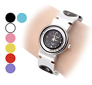 Women's Movable Diamond Dial Circle Pattern Steel Band Quartz Analog Bracelet Watch (Assorted Colors) Cool Watches Unique Watches Fashion Watch