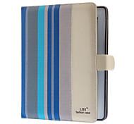 Strisce colorate PU Caso Full Body con Nascosto Card Slot e stand per iPad 2/3/4 (Colori facoltativi)