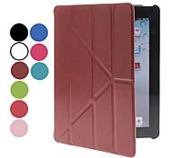 Faltbarer lederner Fall mit Ganzkörper-Karten-Slot und Ständer für iPad 2/3/4 (Optional Farben)