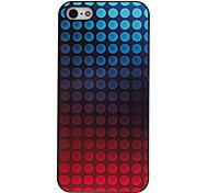caja colorida redonda del modelo de puntos de aluminio duro para el iphone 5/5s