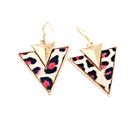 Leopard Print Double Triangle Earrings(Assorted Color)