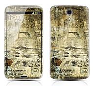 Retro patrón del mapa de Front y Back Protector Pegatinas para Samsung Galaxy I9200 6.3 Mega