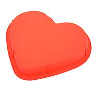 molde coração doce bolo silicone em forma de pizza (cor aleatória)