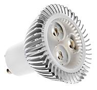 Lâmpadas de Foco de LED GU10 5W 320 LM 2700K K Branco Quente 3 LED de Alta Potência AC 100-240 V MR16