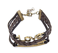 Fashion Alloy With Leatherette Women's Bracelet