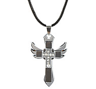 Z&X®  Wild Cross Pendant Wings Pendant Necklace