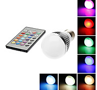 E26/E27 3W 1 LM RGB A50 Remote-Controlled LED Globe Bulbs AC 85-265 V