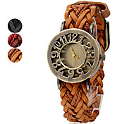 Women's PU and Fabric Band Analog Quartz Wrist Watch (Assorted Colors) Cool Watches Unique Watches Fashion Watch