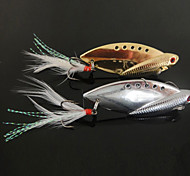 New Designed Fishing 3-Hooks with Fish-Shaped Metal Lure(10g,14g,22g; Color Ramdon)