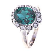 anel lureme®vintage cristais esmeralda (tamanho aleatório)