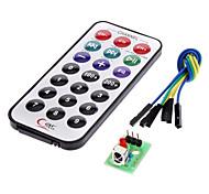kit de control remoto inalámbrico módulo receptor IR para (para arduino) (1 x CR2025)