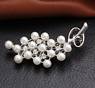 White Full Pearl Brooch