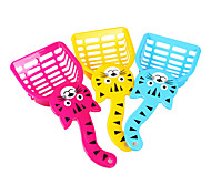 Cute Cat Style Plastic Cat Sand Shovel for Cats(Random Color)