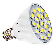 3W E14 Focos LED MR16 21 SMD 5050 240 lm Blanco Natural AC 110-130 / AC 100-240 V