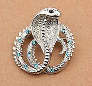 Broche del Rhinestone de la serpiente (color al azar)