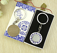 Personalized 6pcs Blue-and-white Vine Pattern Keychain