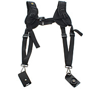 Quick Rapid Double Dual Shoulder Strap Sling Belt For Two Cameras DSLR (Standard)
