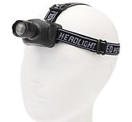 Q-007 3-Mode del Cree XR-E Q5 zoom luz principal del LED (200LM, 3 * AAA, Negro)