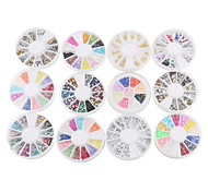 YeManNvYou®12PCS Nail Art Decoration Wheels Mixed-style