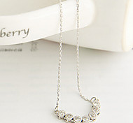Women's Korean version exquisite diamond drill clavicle chain necklace N552