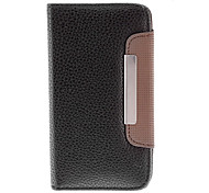 Grain Case Full Body élégant Litchi pour Blackberry Z10 (couleurs en option)