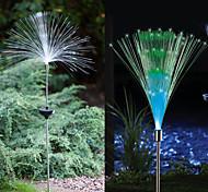 Set Of 2 Solar Fiber Optic Light Fountain Garden Stake(Cis-57185)