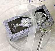 Key to My Heart Bottle Opener Wedding Favors in Lavender Box