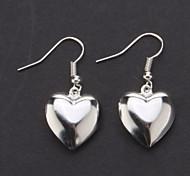 Fashion Heart-Shaped Silver Earrings