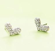 Versão coreana do popular japonês e coreano atacado jóias com diamantes brilhando cheia de amor brincos E159