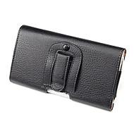 PU Leather Belt Clip Pouch Case for Samsung Galaxy Mega 6.3 P729-Black