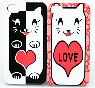 Joyland ABS Love Cat Couple Back Case for iPhone 4/4S(2 PCS)