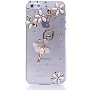 Ballet Girl Transparent Back Case for iPhone 5/5S