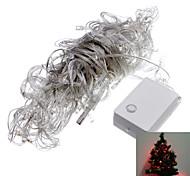 6W luz de tira 10M 100-LED LED rojo con conectador de la extensión del cable para el Festival de Navidad de la decoración de Halloween (220)