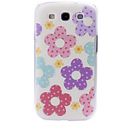 Fashion Small Fresh Florals Pattern Plastic Case for Samsung Galaxy S III/i9300