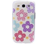 Para Funda Samsung Galaxy Diseños Funda Cubierta Trasera Funda Flor Policarbonato Samsung S3