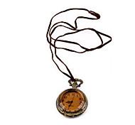 Korean jewelry retro sweater chain pocket watch long necklace N260