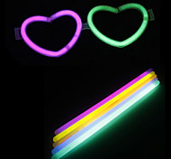 DIY Halloween Loving-heart Glasses with 10PCS Noctilucent Sticks(Random Color)
