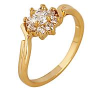 vergoldete Bronze Zirkon Ring