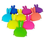 Candy Color Rabbit Style Silicone Change Purses (Assorted Colors)