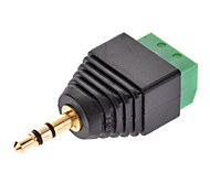 3.5mm Male to Coaxial Female Security Adapter for CCTV