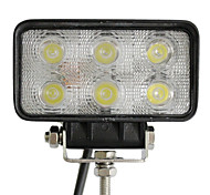 18W 6 LED luz de trabajo Rectangle